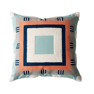 Abstract Colour-Blocking Cushion Cover 02 - OikoSarri