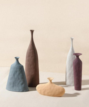Modernist Creased Tall Vase - OikoSarri