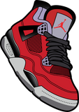 Jordan 4 Retro Toro Bravo Kicks Collection Champion 12 oz./lin. yd. Double Dry Eco Pullover Hood | S700