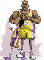 Kobe And Shaq Forever Caricature Collection Gildan Adult Softstyle 7.5 oz./lin. yd. T-Shirt | G640