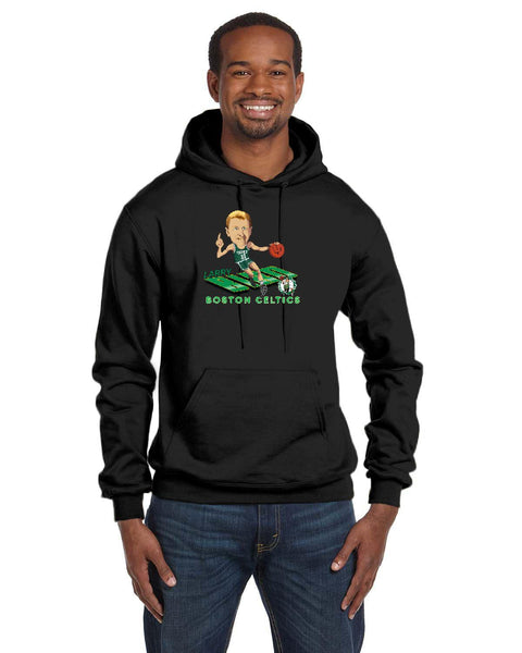 Larry Bird Caricature Collection Champion 12 oz./lin. yd. Double Dry Eco Pullover Hood | S700