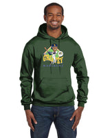 Ken Griffey Jr Caricature Collection Champion 12 oz./lin. yd. Double Dry Eco Pullover Hood | S700
