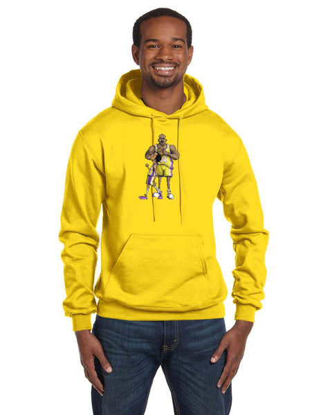 Kobe And Shaq Forever Caricature Collection Champion 12 oz./lin. yd. Double Dry Eco Pullover Hood | S700
