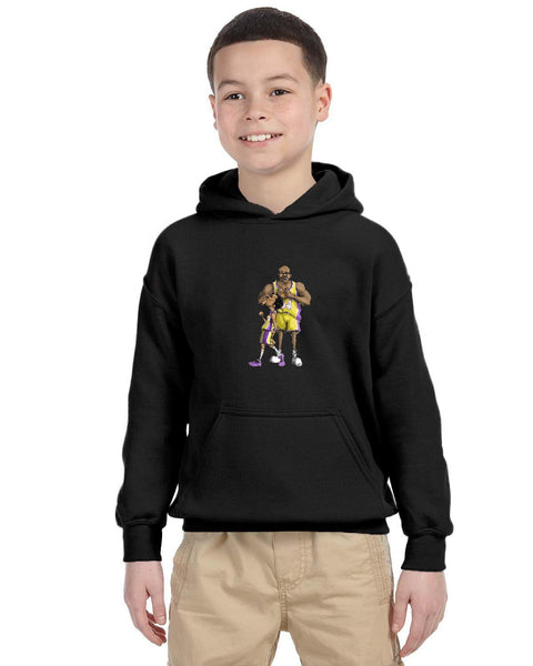 Shaq And Kobe Forever Caricature Collection Gildan Youth Heavy Blend 13.3 oz./lin. yd., 50/50 Hood | G185B