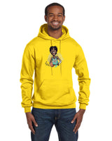Ja Morant Caricature Collection Champion 12 oz./lin. yd. Double Dry Eco Pullover Hood | S700