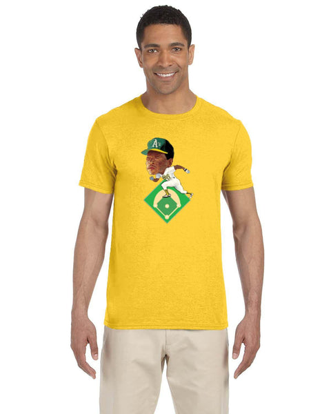 Rickey Henderson Caricature Collection Gildan Adult Softstyle 7.5 oz./lin. yd. T-Shirt | G640