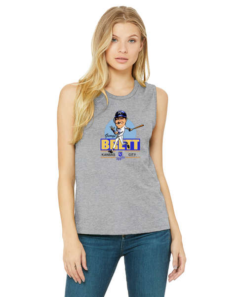 George Brett Caricature Collection Bella + Canvas Ladies' Jersey Muscle Tank | B6003