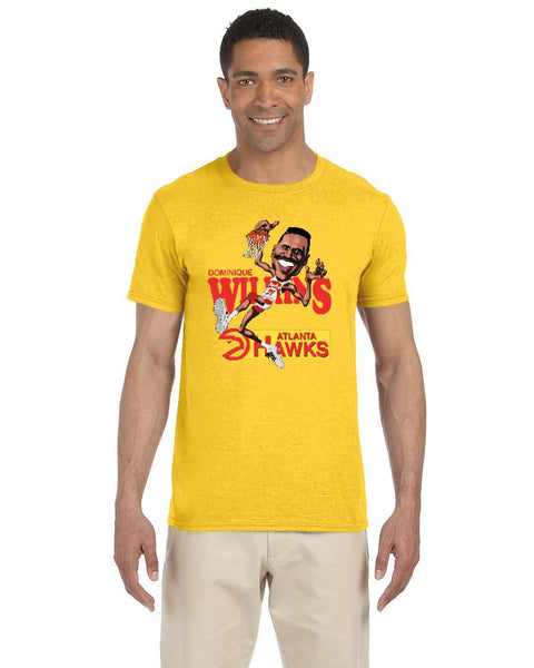 Dominique Wilkins Caricature Collection Gildan Adult Softstyle 7.5 oz./lin. yd. T-Shirt | G640