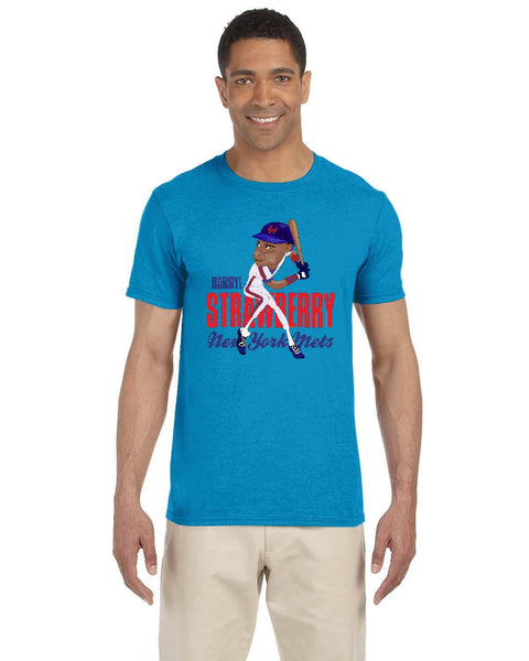 Darryl Strawberry Caricature Collection Gildan Adult Softstyle 7.5 oz./lin. yd. T-Shirt | G640