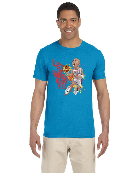 MJ Olympics 92 Caricature Collection Gildan Adult Softstyle 7.5 oz./lin. yd. T-Shirt | G640