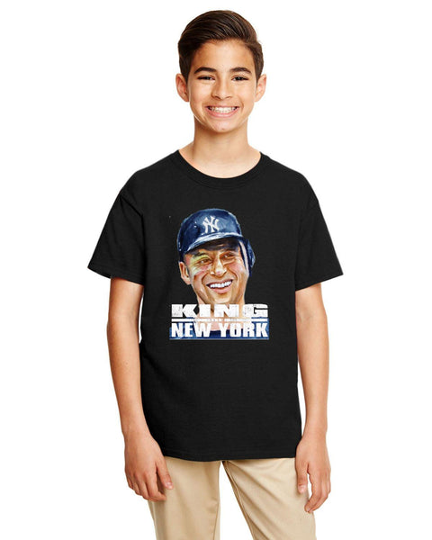 "Jeter ""King Of New York""Gildan Youth Softstyle 7.5 oz./lin. yd. T-Shirt 