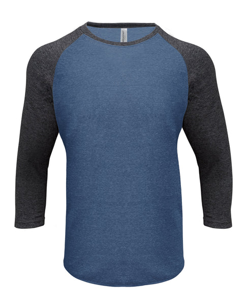 Blanks- Threadfast Unisex Triblend 3/4 Raglan Sleeve
