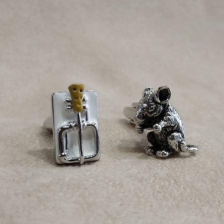 Mouse and Mousetrap Cufflinks