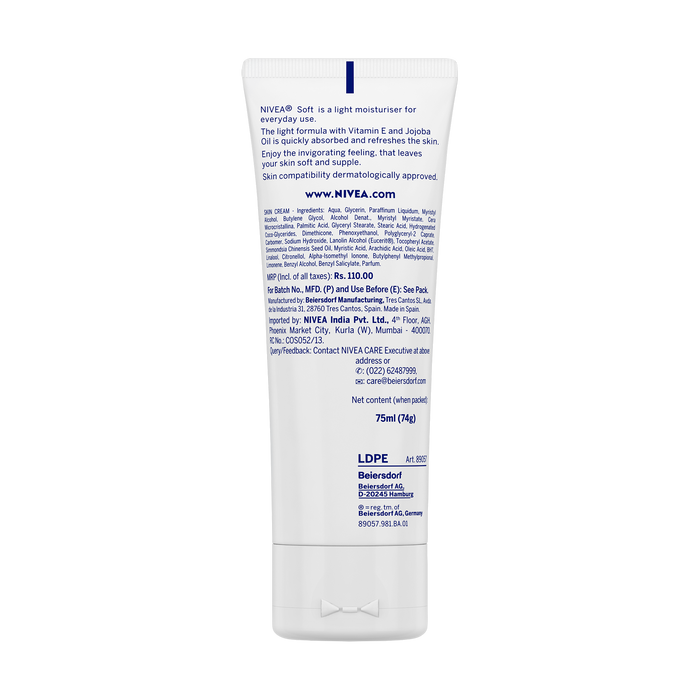 Soft - Light Moisturising Cream Tube