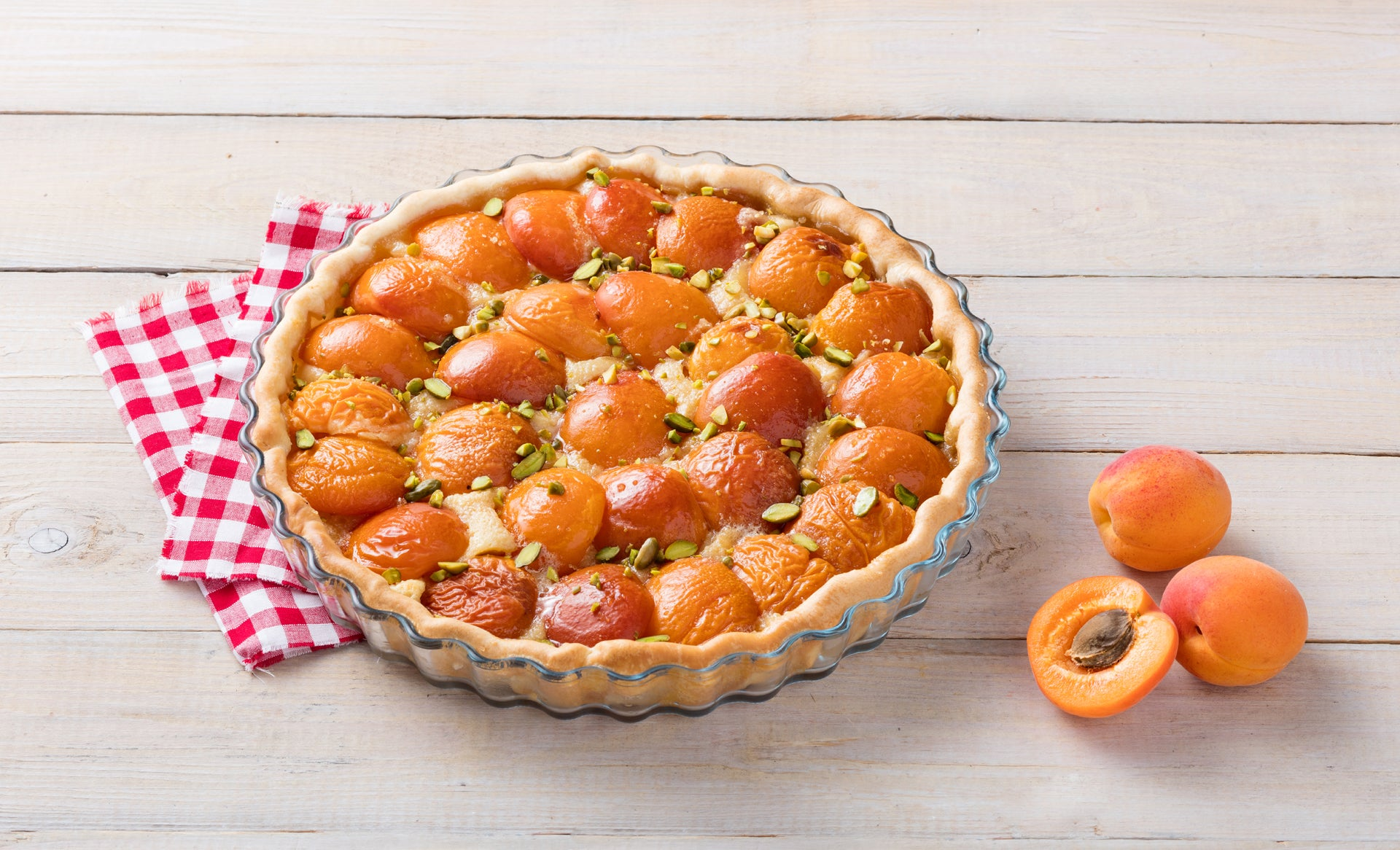 Apricot And Pistachio Tart