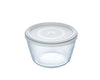 Glass Round storage dish with lid 1,1L
