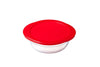 Glass Round storage dish with lid 0,35L