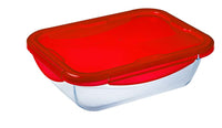 Glass Rectangular storage leak proof dish with lid