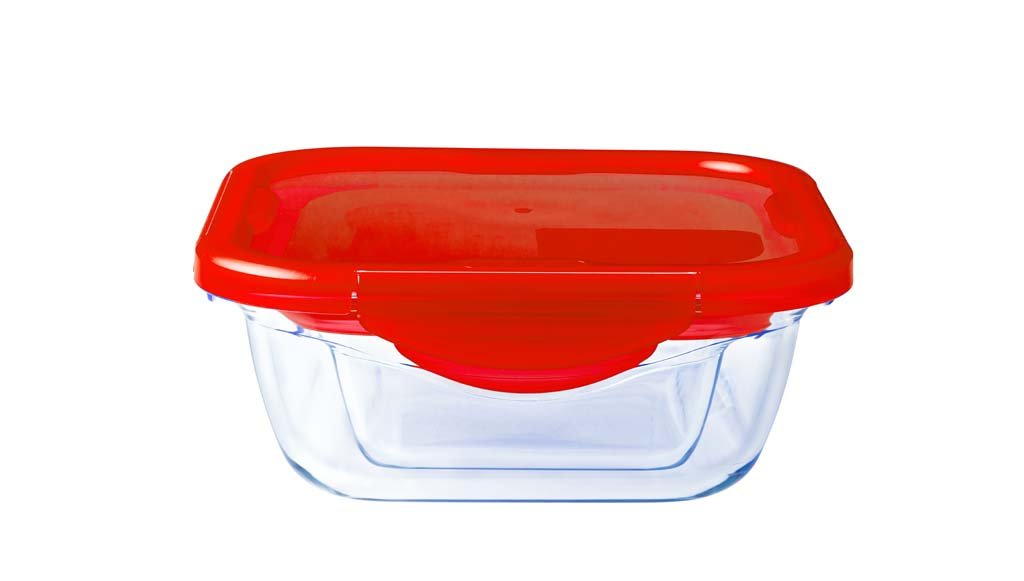 Glass Square storage leakproof dish with lid