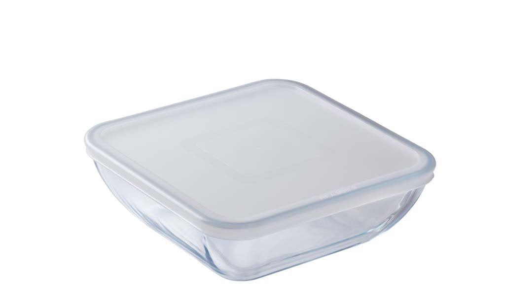 Glass Square storage dish with lid