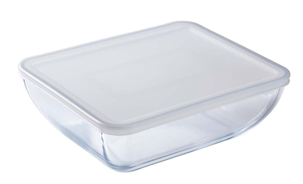 Glass Rectangular storage dish with lid 1,3L