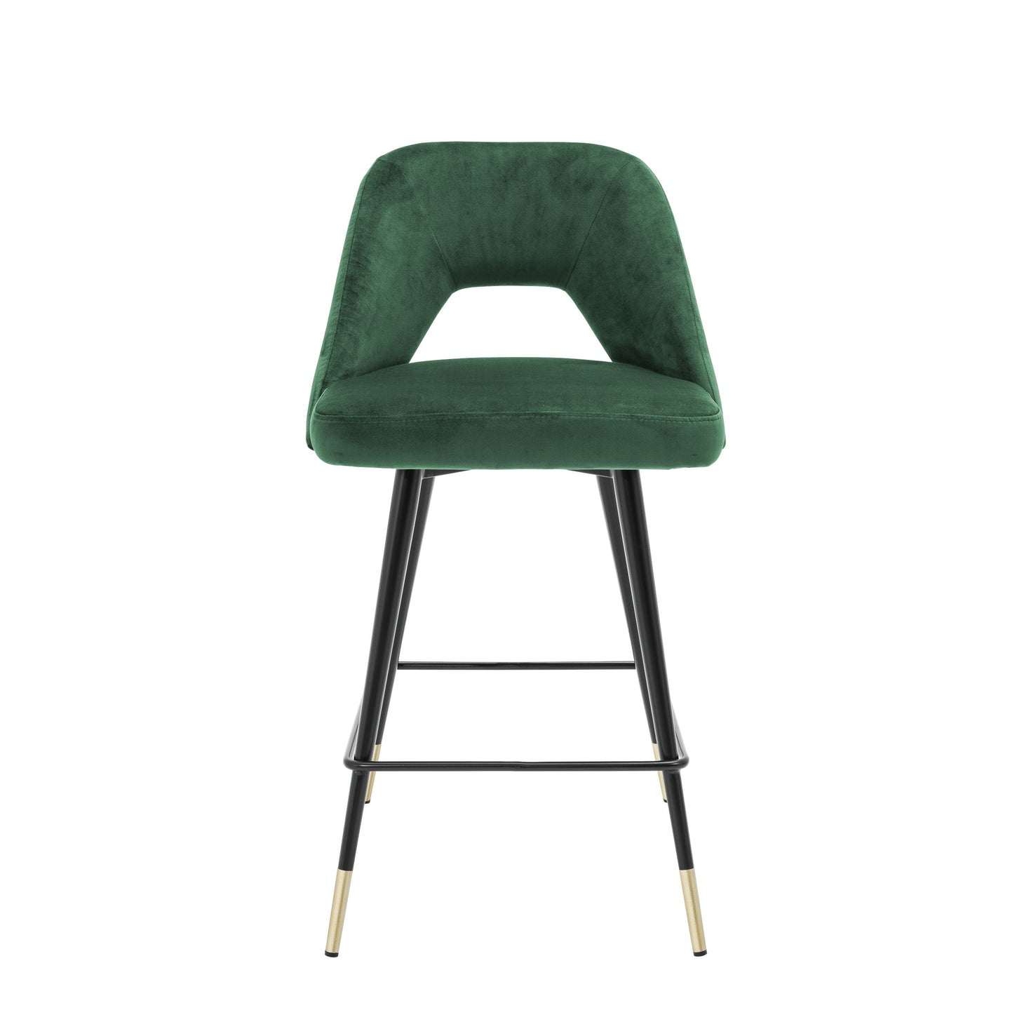 Avorio Bar Stool - Green Velvet
