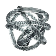 Load image into Gallery viewer, Glass Cord Sculpture - Grey/Blue