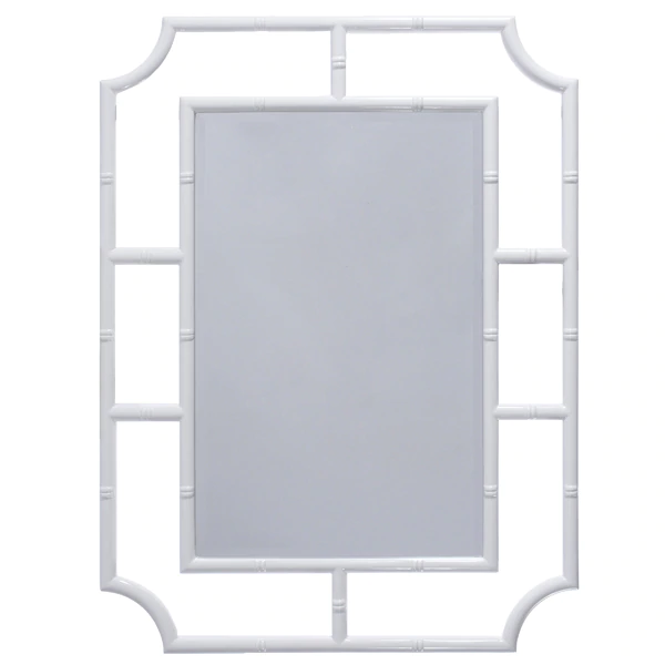 Bamboo White Mirror
