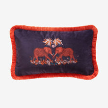 Load image into Gallery viewer, Zambezi Velvet Bolster Cushion - Wine