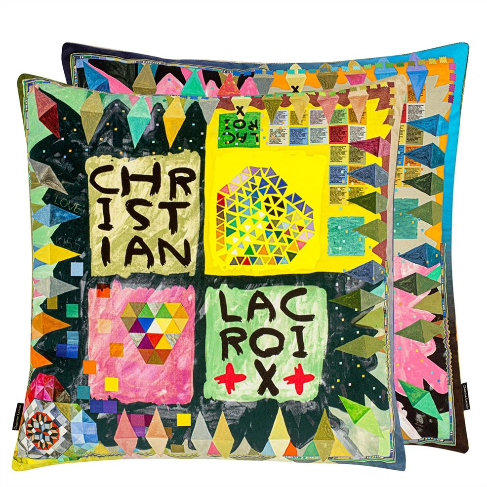 Christian Lacroix Arlecchino Wood cushion