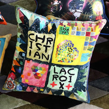 Load image into Gallery viewer, Christian Lacroix Arlecchino Wood cushion