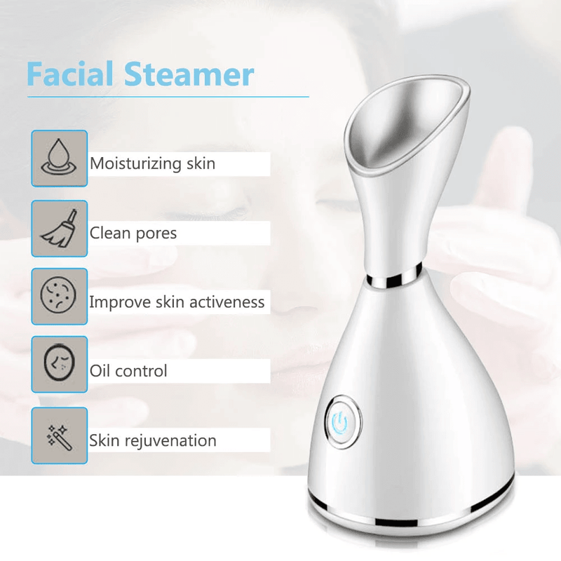 Face Heat Steamer with Blackhead Remover Tools Kit - RedSky Medical
