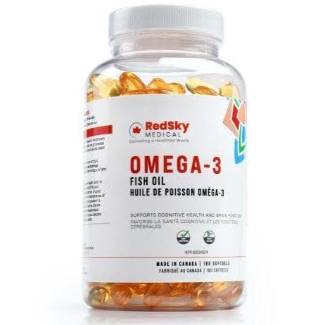 RedSky Omega 3 Fish Oil | 180 Capsules - RedSky Medical