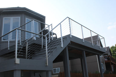 Fascia Mounted Railing Systems in Cable and Glass