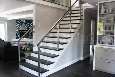 Riti's Stair Railing Creates a Major Design Element in CA