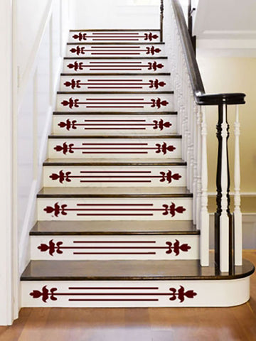 Decals on stairs