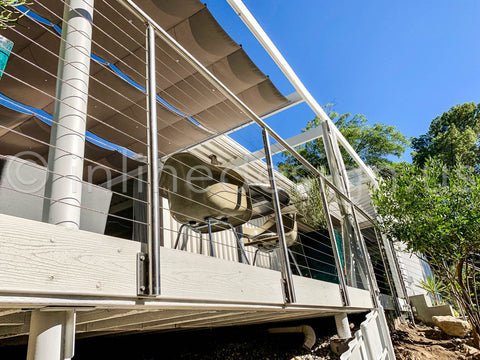 Fascia Mount Cable Railing on a deck