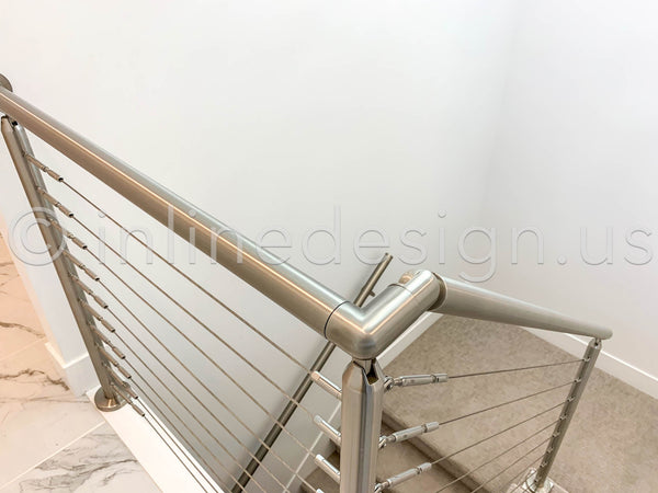 Stair Railing cable transition down