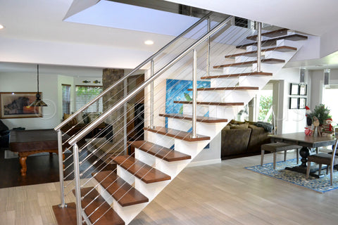 wire stair railing