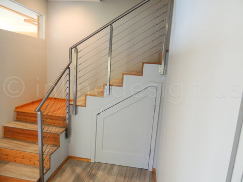 cable railing on stairs