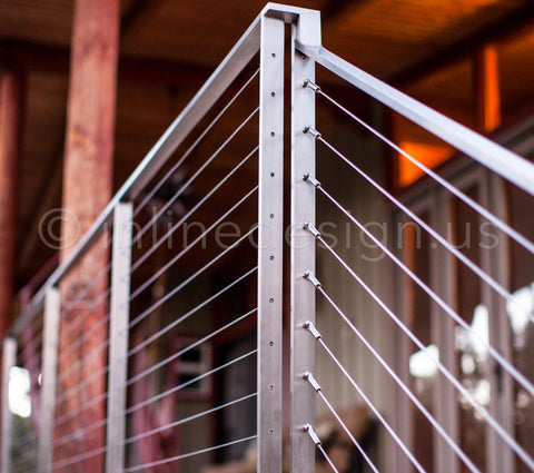 flat bar cable railing system