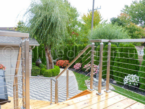cable railing with stairs railings