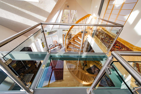 stair railing ideas for and amazing LABYRINTH OF GLASS RAILINGS WILL AMAZE YOU