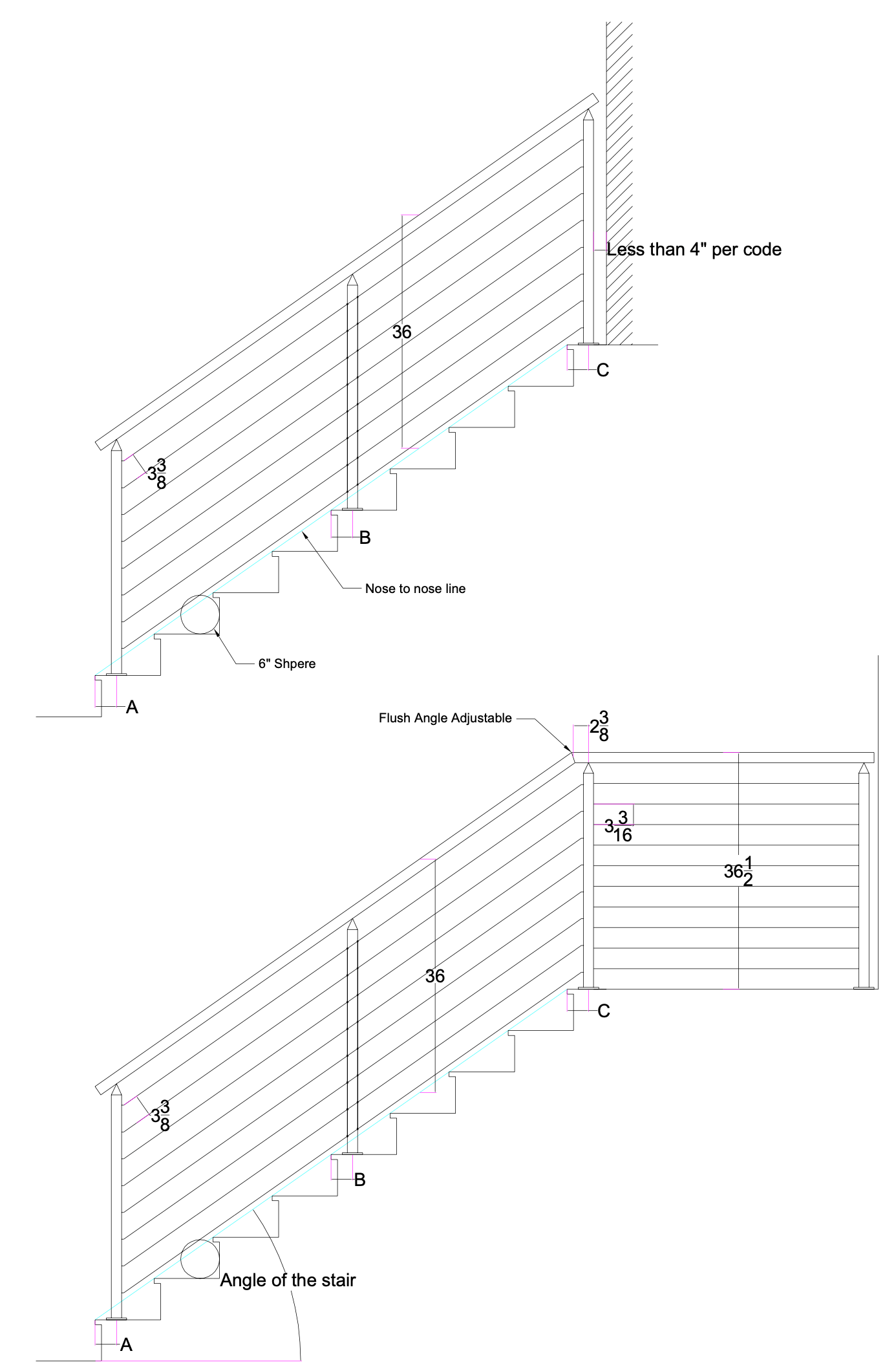 stair post placements