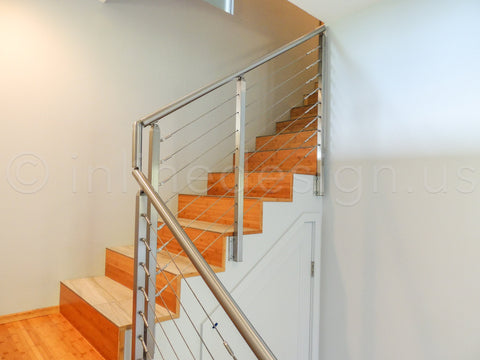Stainless steel stair railing and handrails