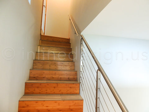 Safety stair cable railing