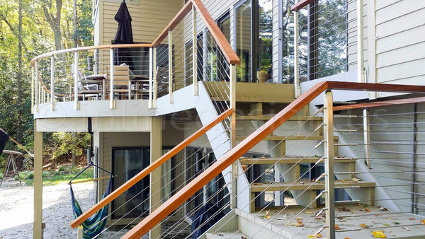 deck railing stainless Steel  cable railing