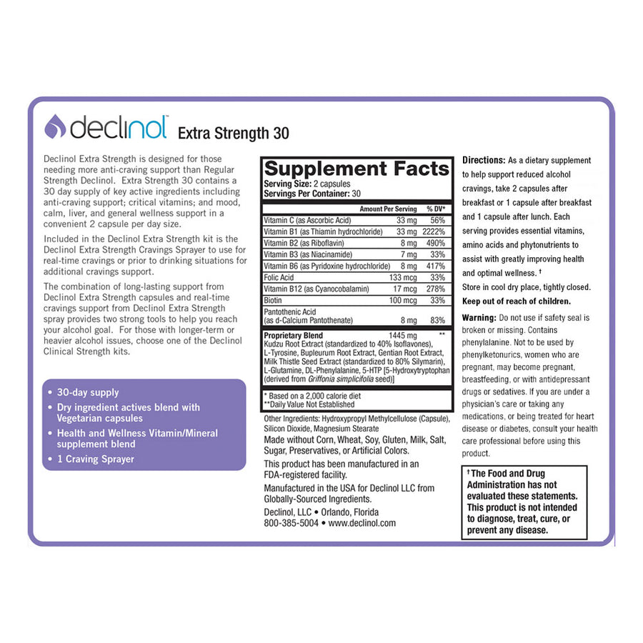 Declinol Extra Strength 60 Day Supply