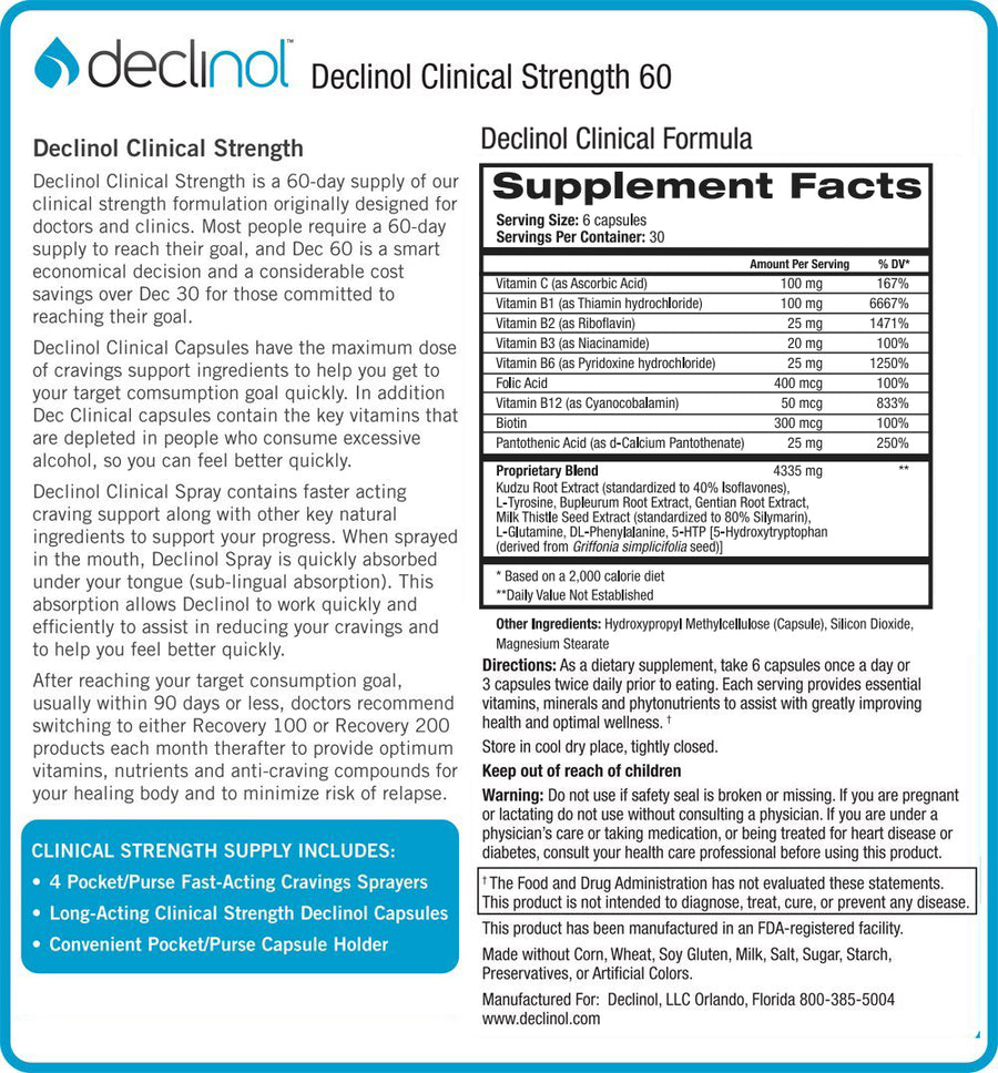 Declinol Maximum Clinical Strength 60 Day Supply
