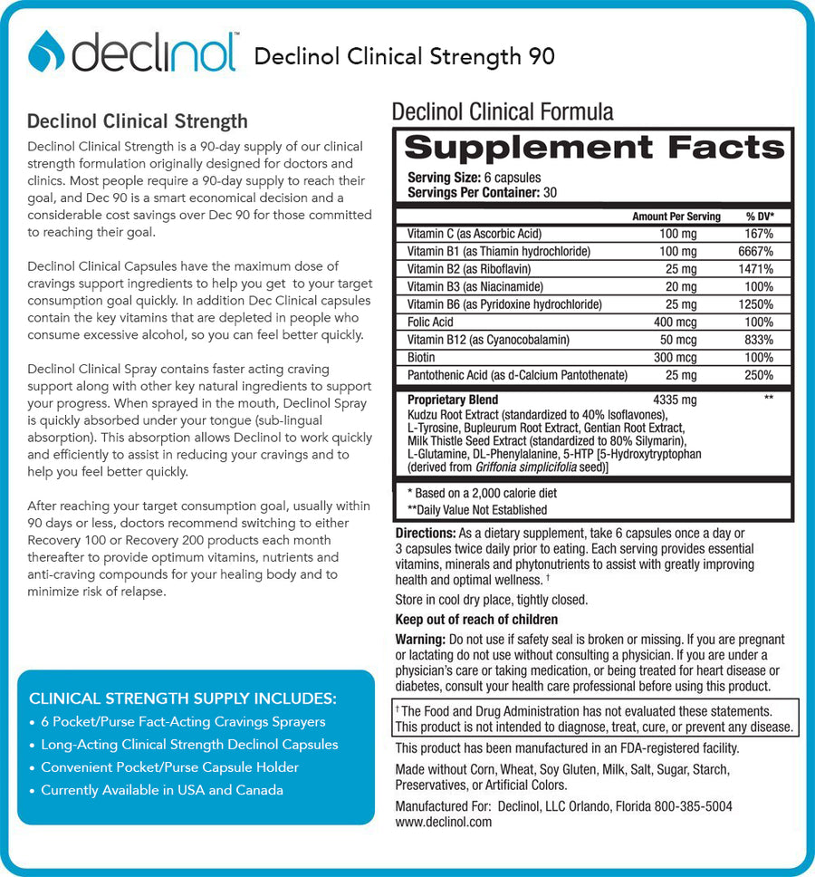 Declinol Maximum Clinical Strength 90 Day Supply